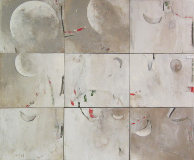 Moon Serious, 2010-2011, 41 x 54 in
