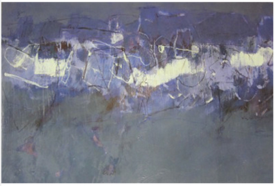 Expression of Grays and Purples, 2005, Mixed Media, 30x42 in